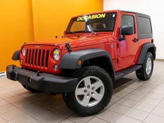 Used 2018 Jeep Wrangler 4X4 AUTOMATIQUE CLIMATISEUR *RÉGULATEUR* for sale in Mirabel, QC