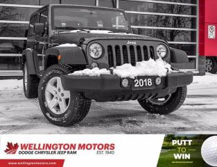 Used 2018 Jeep Wrangler JK Sport / One Owner / 4x4 / Auto !! for sale in Guelph, ON