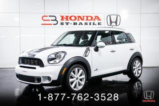 Used 2011 MINI Cooper Countryman S + ALL4 + CUIR + TOIT + MANUELLE + WOW! for sale in St-Basile-le-Grand, QC