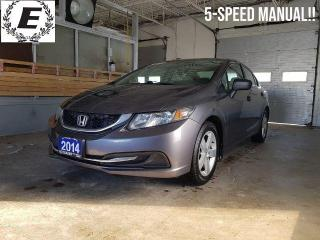 Used 2014 Honda Civic DX   5-SPEED MANUAL!! for sale in Barrie, ON