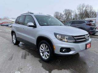 Used 2017 Volkswagen Tiguan Wolfsburg AWD 4MOTION for sale in Brantford, ON