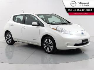 Used 2017 Nissan Leaf SV Heated Steering Wheel, Heated Seats,1 Owner for sale in Winnipeg, MB
