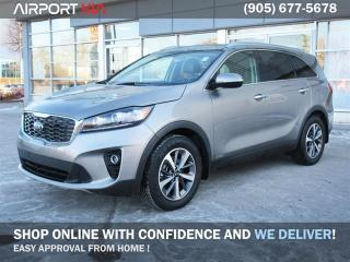 Used 2019 Kia Sorento EX V6 AWD 7-seater Demo. WE ARE OPEN, BOOK YOUR APPOINTMENT/Clean CarFax /Leather/ Camera/Android Auto Apple CarPlay/Blind spot indicator for sale in Mississauga, ON