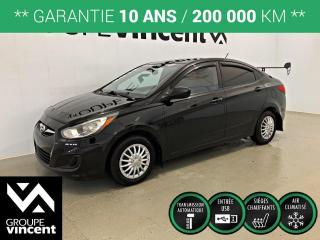 Used 2013 Hyundai Accent GL ** GARANTIE 10 ANS ** Fiable et économique! for sale in Shawinigan, QC