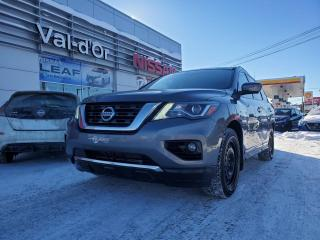 Used 2018 Nissan Pathfinder PLATINIUM, CUIR, BOSE, DVD, NAVI 7 PASSAGERS + 6000 LBS DE REMORCAGE for sale in Val-d'Or, QC
