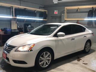 Used 2013 Nissan Sentra SL* Navigation * Sunroof * Heated Leather Seats * Back Up Camera *  Push Button Start * Cruise Control * Steering Wheel Controls * Hands Free Calling for sale in Cambridge, ON