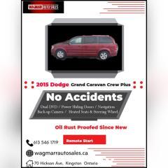 Used 2015 Dodge Grand Caravan Crew Plus for sale in Kingston, ON