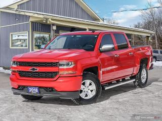 Used 2018 Chevrolet Silverado 1500 Custom,4X4,CREWCAB,TOW PKG,R/V CAM,B.TOOTH for sale in Orillia, ON