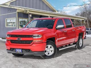 Used 2018 Chevrolet Silverado 1500 Custom,4X4,CREWCAB,TOW PKG,R/V CAM,B.TOOTH for sale in Orillia, ON