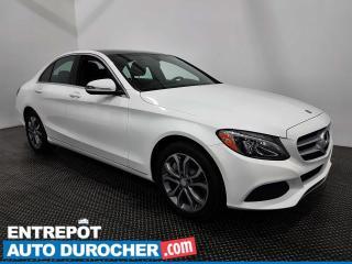 Used 2017 Mercedes-Benz C-Class C300 AWD NAV. -TOIT OUVRANT -CAMÉRA DE RECUL -CUIR for sale in Laval, QC