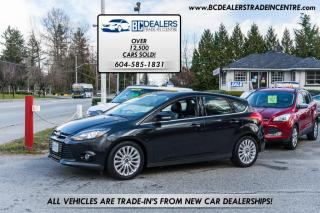 Used 2012 Ford Focus Titanium, Leather, Navigation, Bluetooth, Loaded, Only 130k! for sale in Surrey, BC