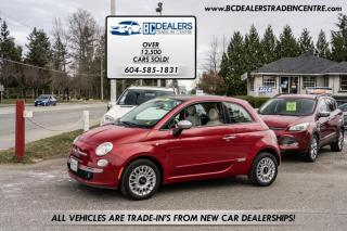 Used 2013 Fiat 500 Lounge Edition, 120,000 km's, Rare 5-Speed, Leather Sunroof! for sale in Surrey, BC