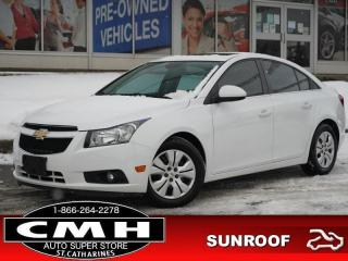 Used 2013 Chevrolet Cruze LT Turbo  BLUETOOTH ROOF S/W-AUDIO AUTO for sale in St. Catharines, ON