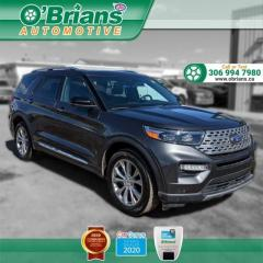 Used 2020 Ford Explorer Limited w/Mfg Warranty, 4WD, Leather, Navigation, Third Row Seat for sale in Saskatoon, SK