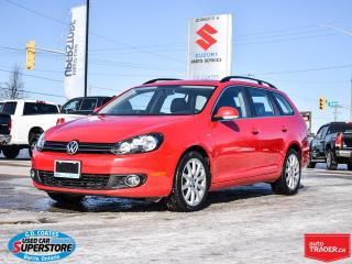 Used 2014 Volkswagen Golf Wagon Wolfsburg Edition TDI ~Nav ~Leather ~Pano Roof for sale in Barrie, ON