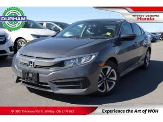 Used 2016 Honda Civic LX | CVT | Apple CarPlay/Android Auto for sale in Whitby, ON