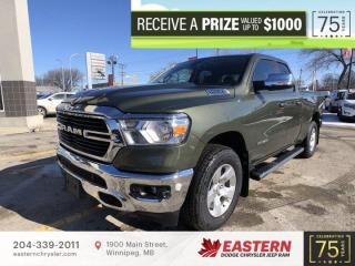 New 2021 RAM 1500 Big Horn | Backup Cam | 0% Financing | Remote Start | for sale in Winnipeg, MB