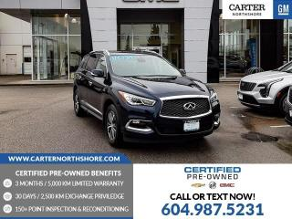 Used 2019 Infiniti QX60 Pure MOONROOF - LEATHER - MEMORY SEAT - HEATED PWR SEATS for sale in North Vancouver, BC