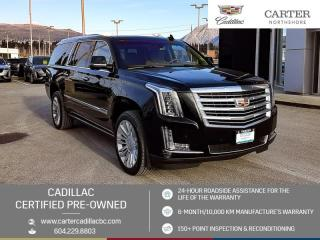 Used 2016 Cadillac Escalade ESV Platinum ENTERTAINMENT PKG - MOONROOF - NAVIGATION for sale in North Vancouver, BC