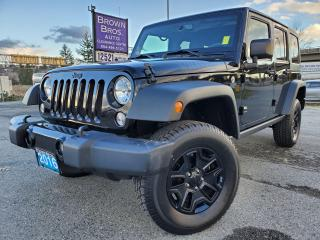 Used 2016 Jeep Wrangler UNLIMITED SPORT, LOCAL, NO ACCIDENTS,  1 OWNER for sale in Surrey, BC