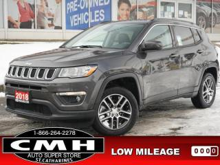 Used 2018 Jeep Compass North  NAV BLIND-SPOT LEATH HTD-S/W 17-AL for sale in St. Catharines, ON