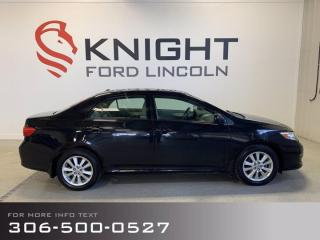 Used 2010 Toyota Corolla LE, Low KM's, Lady Driven, Excellent Fuel Economy! for sale in Moose Jaw, SK