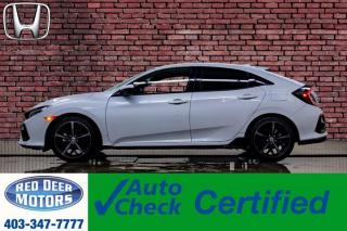 Used 2020 Honda Civic Sport Touring Hatchback Manual Leather Roof Nav for sale in Red Deer, AB