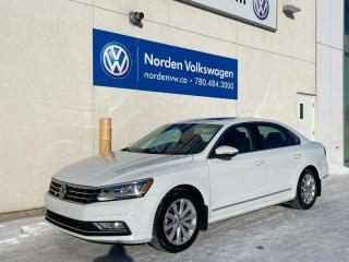 Used 2017 Volkswagen Passat COMFORTLINE W/ NAV PKG - LEATHER HTD SEATS / VW CERTIFIED! for sale in Edmonton, AB