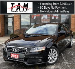 Used 2012 Audi A4 2.0T Sunroof Leather Heated Seats Clean Carfax No Accident for sale in North York, ON