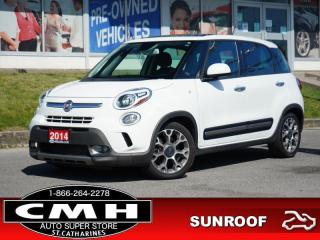 Used 2014 Fiat 500 L Trekking  CAM PARK-SENS HTD-SEATS ROOF 17-AL for sale in St. Catharines, ON