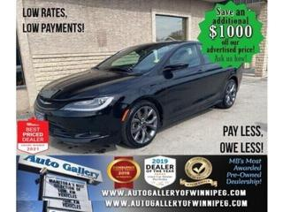 Used 2016 Chrysler 200 S* Sunroof/Heated Seats/Navigation/REMOTE STARTER for sale in Winnipeg, MB