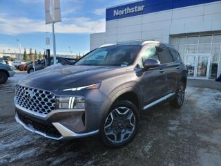 New 2021 Hyundai Santa Fe Hybrid TREND: LEATHER/SUNROOF/BLIND SPOT DETECT/APPLE CARPLAY/HEATED SEATS for sale in Edmonton, AB