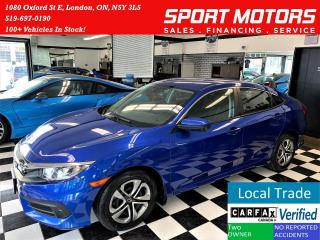 Used 2017 Honda Civic LX+New Tires & Brakes+ApplePlay+ACCIDENT FREE for sale in London, ON