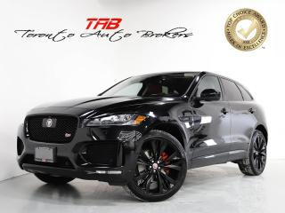 Used 2017 Jaguar F-PACE S I RED LEATHER I 22 IN WHEELS I HUD I NAVI for sale in Vaughan, ON