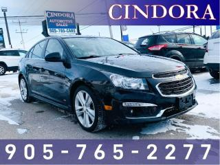 Used 2015 Chevrolet Cruze 2LT, Leather, Nav, Heated Seats, Loaded for sale in Caledonia, ON