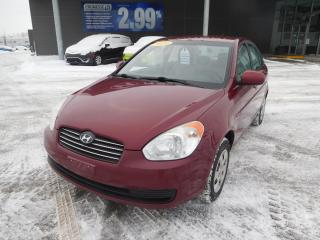Used 2010 Hyundai Accent MAN,A/C,GL,VITRES ET MIROIRS ÉLECTRIQUE,AM/FM for sale in Mirabel, QC