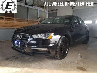 Used 2016 Audi A3 PREMIUM/LEATHER/SUNROOF!! for sale in Barrie, ON