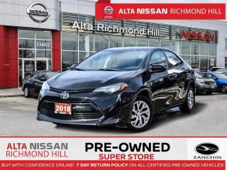 Used 2018 Toyota Corolla LE   Rear CAM   Lane Depart Warning   Keyles Entry for sale in Richmond Hill, ON