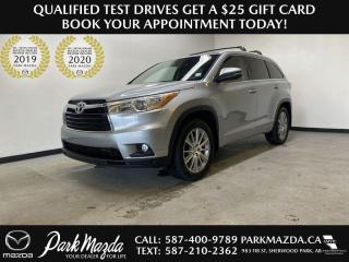 Used 2015 Toyota Highlander XLE for sale in Sherwood Park, AB