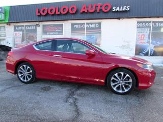 Used 2013 Honda Accord EX-L V6 Coupe 6 Spd Manual Navigation Camera Certified for sale in Milton, ON