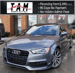 Used 2016 Audi A3 2.0T S-Line Premium Plus Back-Up Camera Sunroof Parking Distance Clean Carfax No Accident for sale in North York, ON