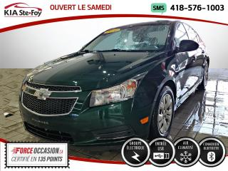 Used 2014 Chevrolet Cruze LT* TURBO* BLUETOOTH* JAMAIS ACCIDENTÉ * for sale in Québec, QC