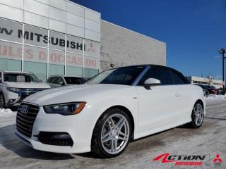 Used 2016 Audi A3 S-LINE+QUATTRO+DÉCAPOTABLE+A/C+CUIR+BLUETOOTH+MAGS for sale in St-Hubert, QC