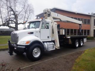 Used 2019 PETERBILT 348 National Boom Crane Truck Flat Deck 20 Foot Air Brakes Diesel for sale in Burnaby, BC