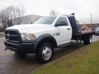 Used 2014 RAM 5500 Flat Deck  12 foot  4WD Cummins Diesel for sale in Burnaby, BC
