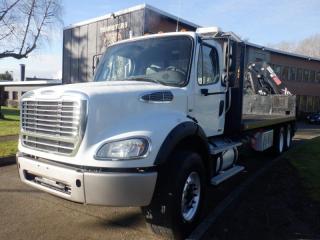 Used 2012 Freightliner M2 112 Flat Deck 21 Foot Crane Air Brakes Diesel for sale in Burnaby, BC