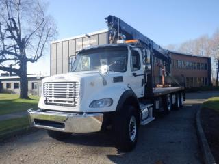 Used 2011 Freightliner M2 112 24 Feet Flat Deck Diesel With Air Brakes Crane for sale in Burnaby, BC