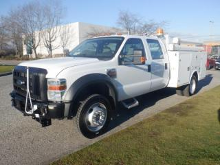 Used 2010 Ford F-450 SD Crew Cab Dually Service Truck with Tommy Gate Diesel for sale in Burnaby, BC