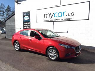 Used 2017 Mazda MAZDA3 LEATHER, HEATED SEATS, ALLOYS, BACKUP CAM!! for sale in North Bay, ON
