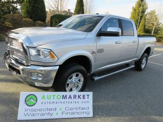 Used 2013 RAM 2500 Laramie Longhorn Crew Cab SWB 4WD INSP, WARR, FINANCE, BCAA MEMBERSHIP for sale in Surrey, BC